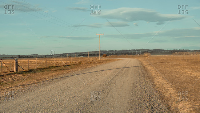 Empty Country road with blue sky