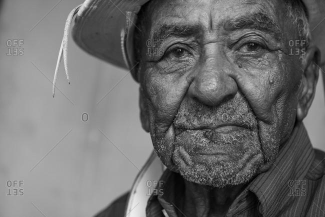 Brazil, State of Sergipe, Caninde de Sao Francisco - June 25, 2016: Ze leobino, living legend of cangaco, partner of the legendary lampiao
