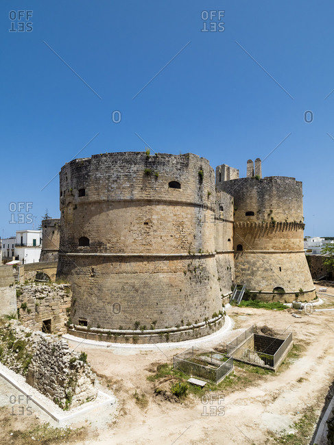 Italy- Province of Lecce- Otranto- Towers of Aragonese Castle