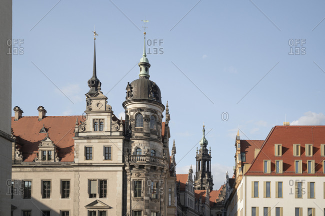 View of Residenzschloss against blue sky in Dresden- Saxony- Germany