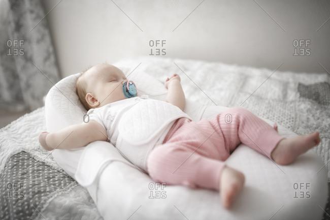 Girl Sleeping Barefoot Stock Photos Offset
