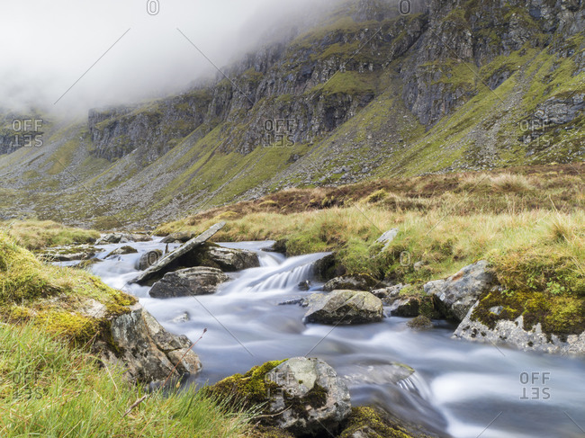 Scenic view of river against mountain- Scotland- UK