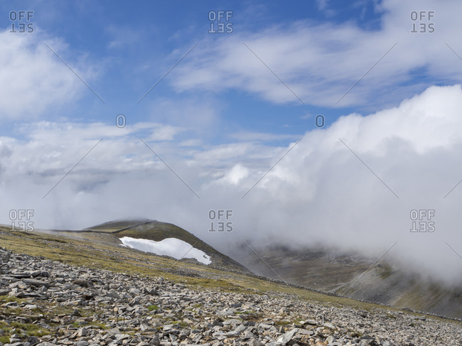 Scenic view of mountain against cloudy sky- Scotland- UK