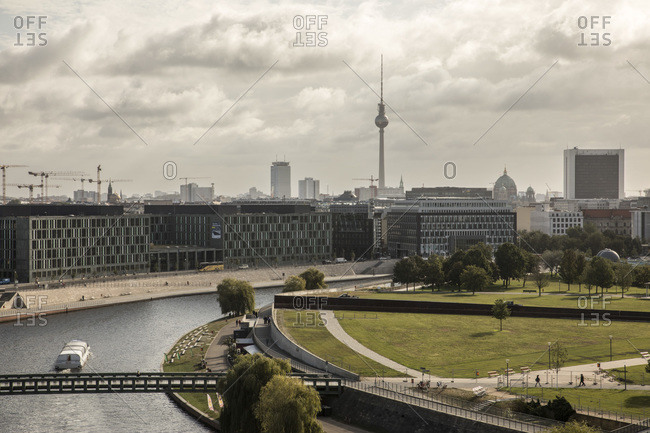 September 17, 2019: Germany- Berlin- Architecture of German Chancellery