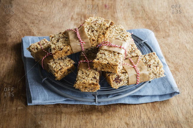 Homemade British flapjack bars