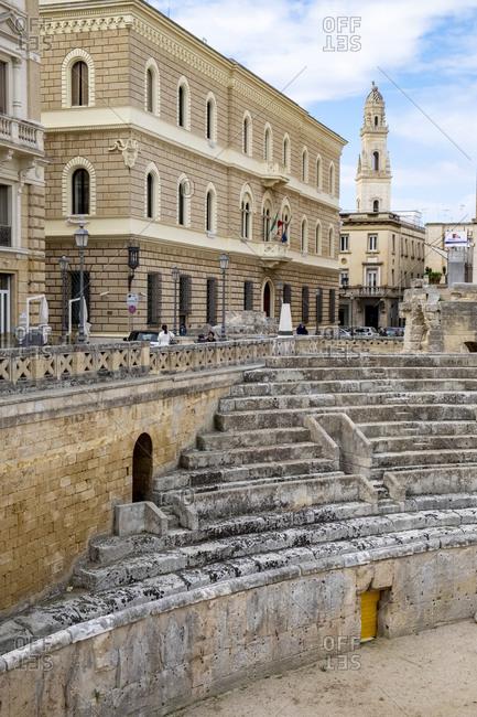 October 3, 2019: Italy- Apulia- Lecce- Roman amphitheater