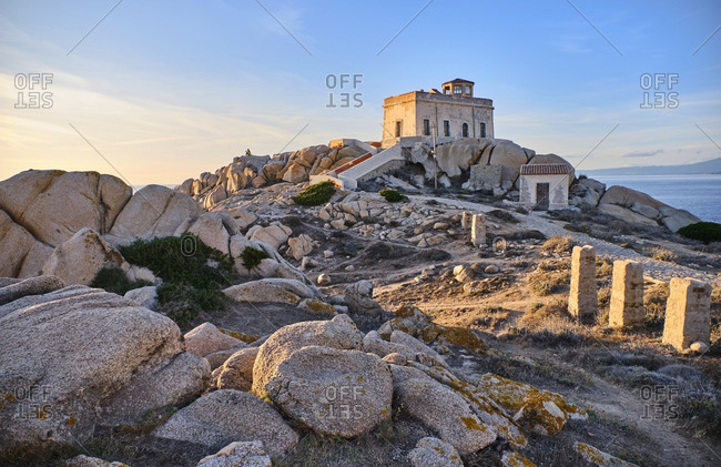 Italy- Province of Sassari- Santa Teresa Gallura- Old lighthouse at Cape Testa