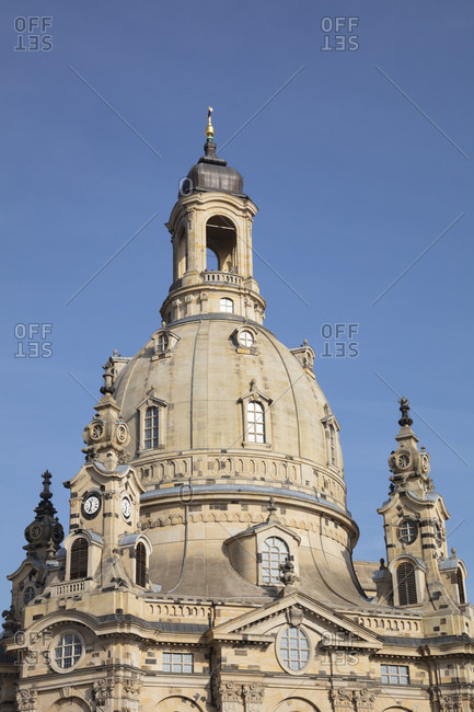 November 4, 2019: Germany- Saxony- Dresden- Dome of Frauenkirche