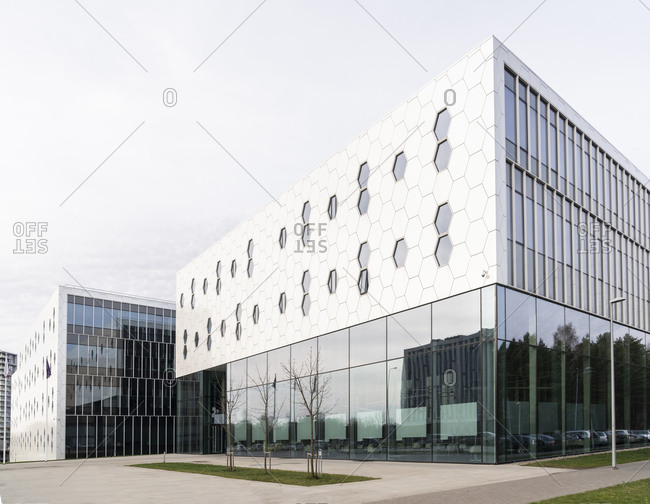 Exterior of a modern building- Vilnius- Lithuania