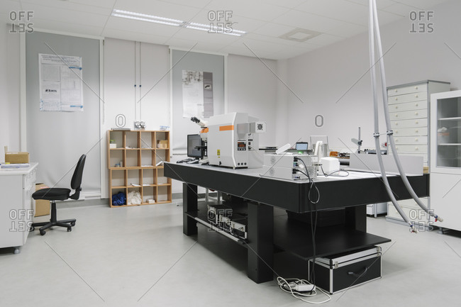 Interior of a laboratory