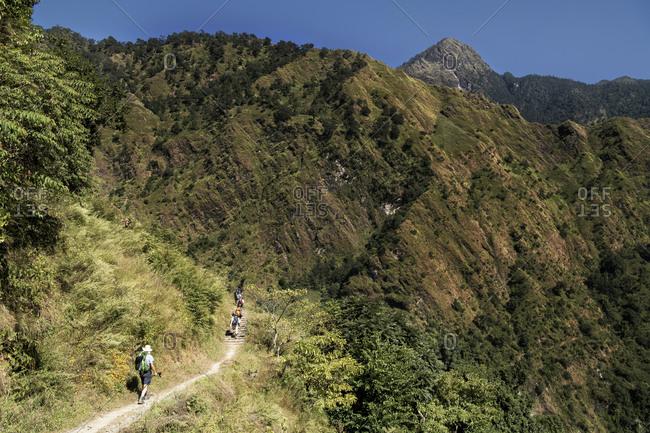 Trekking group at Dobang- Dhaulagiri Circuit Trek- Himalaya- Nepal