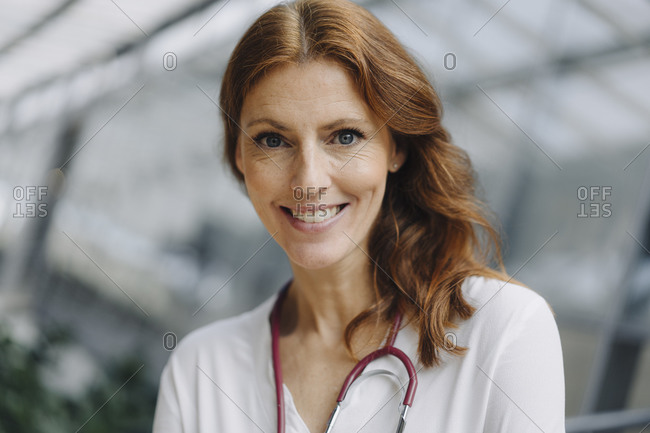 Portrait of a smiling female doctor