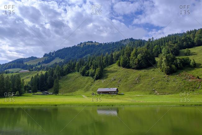 Germany- Swabia- Vorarlberg- Bregenz Forest- Allgau- Oberallgau- Lecknertal- Landscape with Leckner See