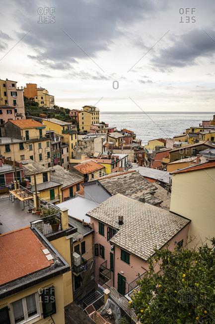 Townscape of Riomaggiore- Liguria- Italy