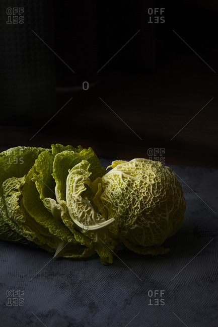 Cabbage on dark background
