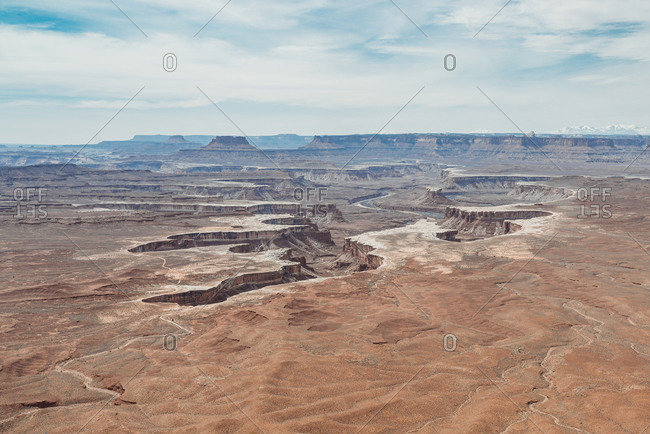 Aerial view overlooking Canyonlands National Park, Utah