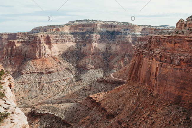 View of rugged canyons in Canyonlands National Park, Utah