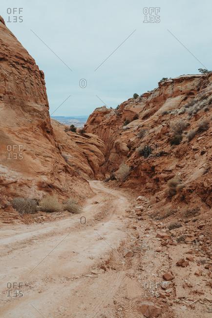 Dirt trail in Canyonlands National Park, Utah