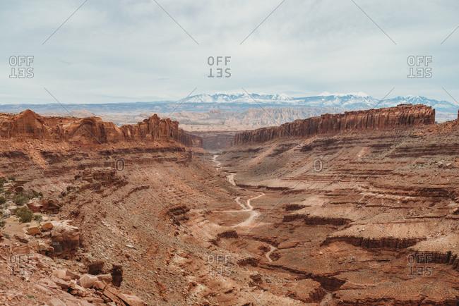 View overlooking valley in Canyonlands National Park, Utah