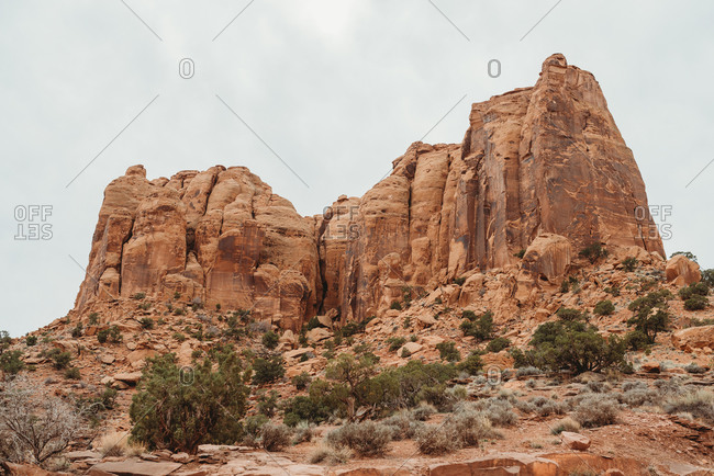 Sandstone butte in Canyonlands National Park, Utah