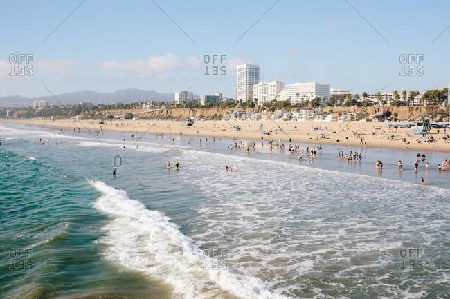 Santa Monica State Beach in Santa Monica, California