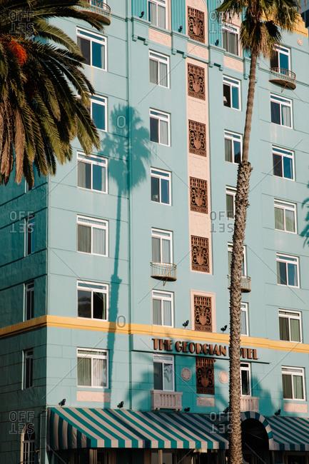 Santa Monica, California - December 31, 1999: The Georgian Hotel exterior