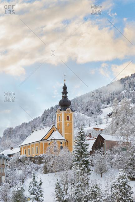 Jakobskapelle church in Bad Kleinkirchheim, an alpine village in Carinthia, Austria, Europe