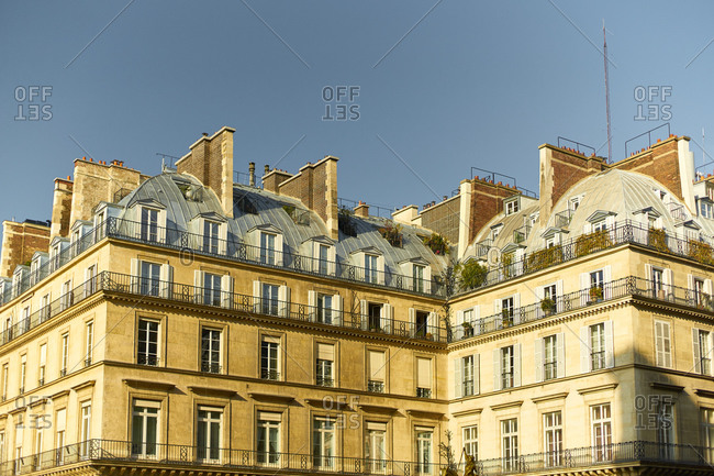 Details of Paris architecture and balconies