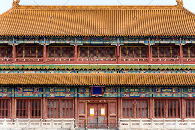 Pavilion in the Forbidden City. Beijing, China