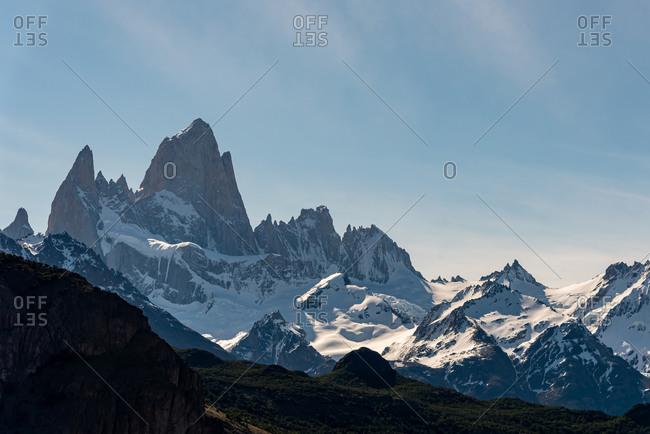 Sunset on Mount Fitz Roy. El Chalten, Patagonia, Argentina