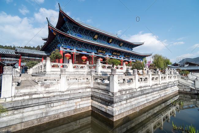 March, 16. 2019: Mu's Residence, the mansion of the Mu family. Lijiang, Yunnan, China