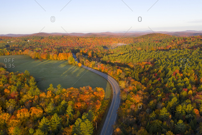 Aerial view of foliage in Marlboro, Vermont