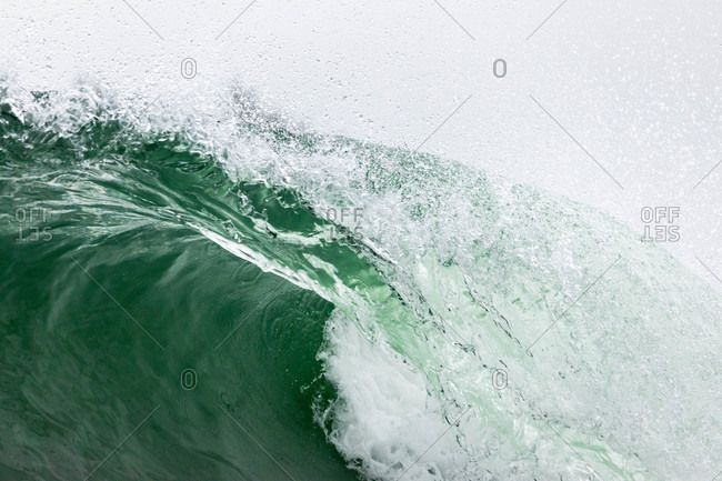Detail of splashing wave in the ocean