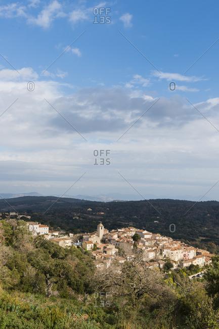 Landscape of Ramatuelle village near Saint-Tropez, Var, France