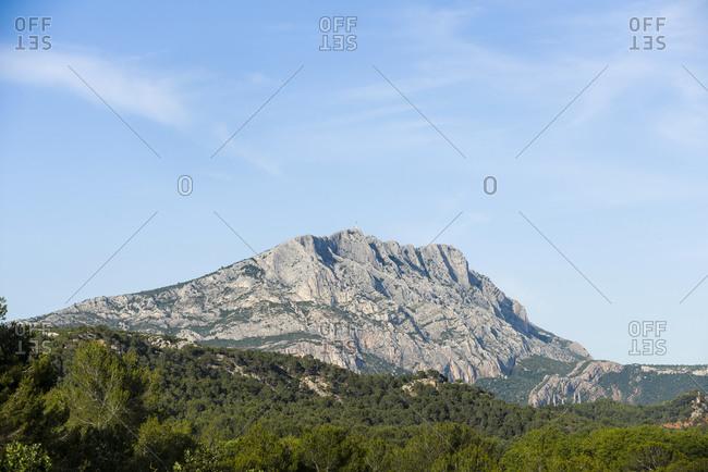 View of Montagne Sainte-Victoire, France