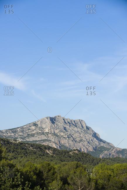 View of Montagne Sainte-Victoire, Bouches-du-Rhone, France
