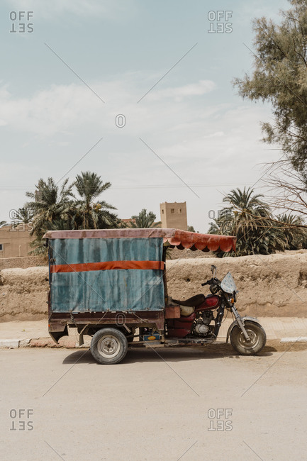Motor vehicle pared at roadside- Fez- Morocco