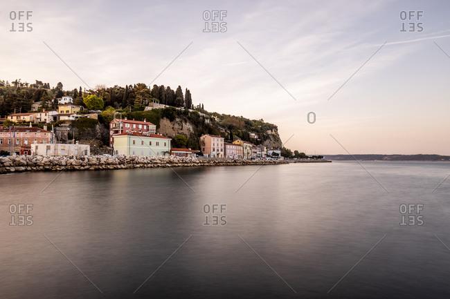 April 21, 2019: Sea promenade of Piran- Slovenia