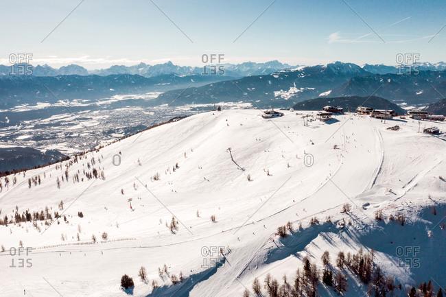 Austria- Carinthia- Gerlitzen mountains in winter
