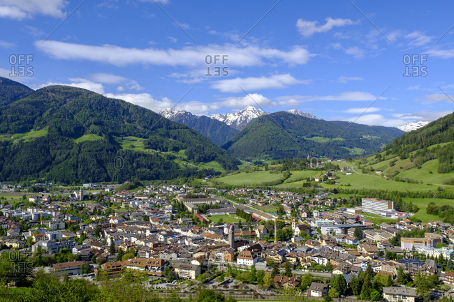 Italy- South Tyrol- Sterzing- Town in Eisack Valley during spring