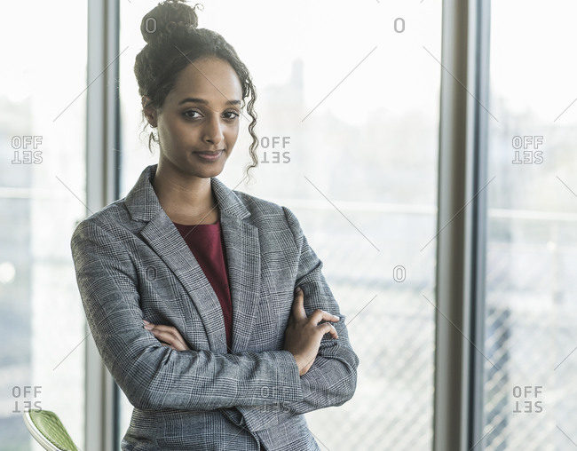 Portrait of a confident young businesswoman in office
