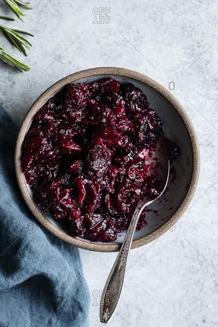 Rosemary cranberry fig jam