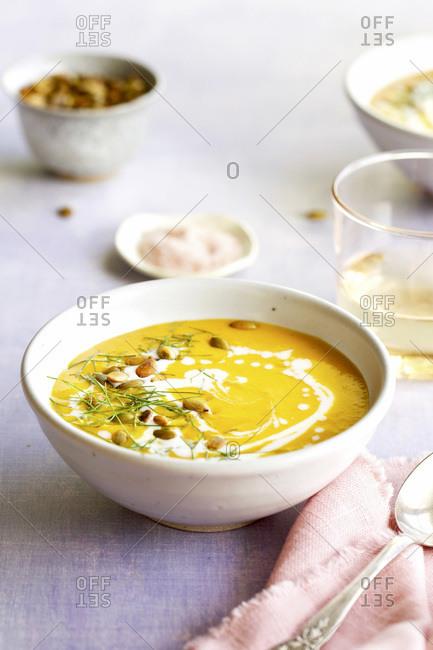 Roasted Fennel Butternut Squash Coconut Soup