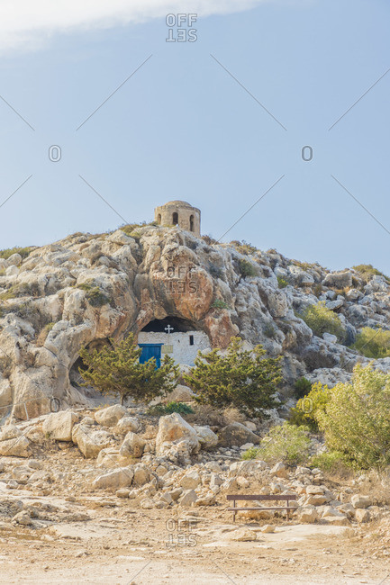 Ayioi Saranta Cave Church, Protaras, Cyprus. The church is aslo known as Saranta Martyres, Forty martyrs or holy Forty church.