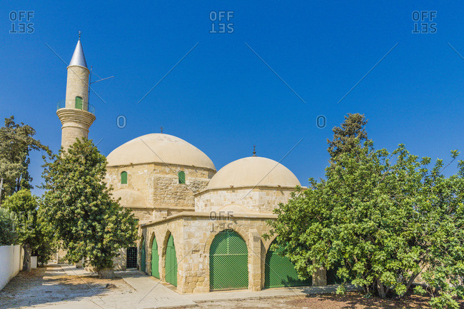 Hala Sultan Tekke Mosque , Larnaca, Cyprus. Also known as Mosque of Umm Haram