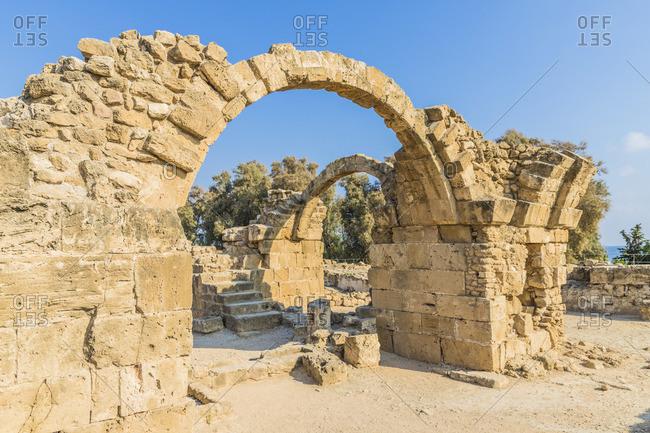 Saranda Colones at Paphos Archaelogical Park, Paphos, Cyprus