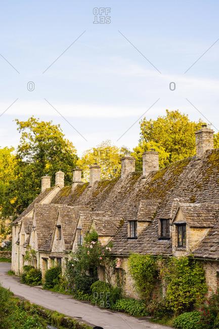 Arlington Row, Bibury, Cotswolds, Gloucestershire, England, UK