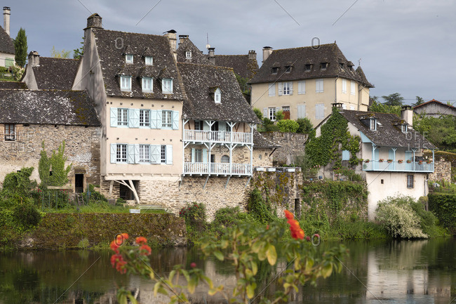 Europe, France,Nouvelle-Aquitaine, Correze, Dordogne Valley, Argentat, Argentat-sur-Dordogne