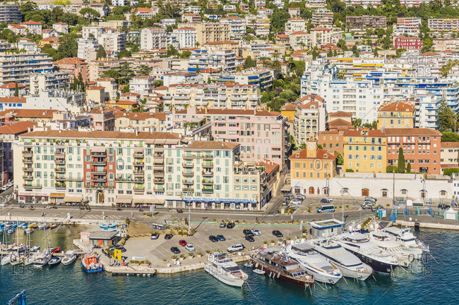 June 12, 2019: Port Lympia, Nice, Alpes-Maritimes, Provence-Alpes-Cote D'Azur, French Riviera, France