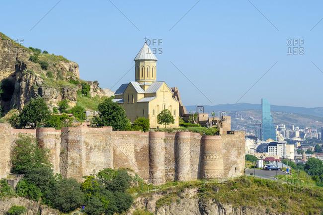 Narikala Fortress and Saint Nicholas Church, Tbilisi (Tiflis), Georgia.